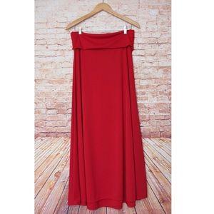 LuLaRoe | Vibrant Solid Red Maxi Skirt